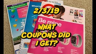 2/3/19 WHAT COUPONS DID I GET? |