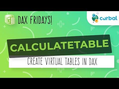 DAX Fridays! #81: CALCULATETABLE