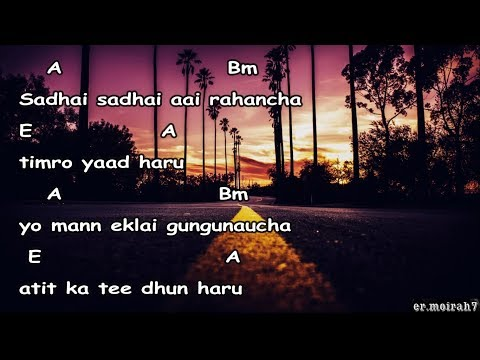 Sadhai sadhai lyrics with guitar chords || Mantra official ||