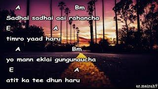 Sadhai sadhai lyrics with guitar chords || Mantra official ||