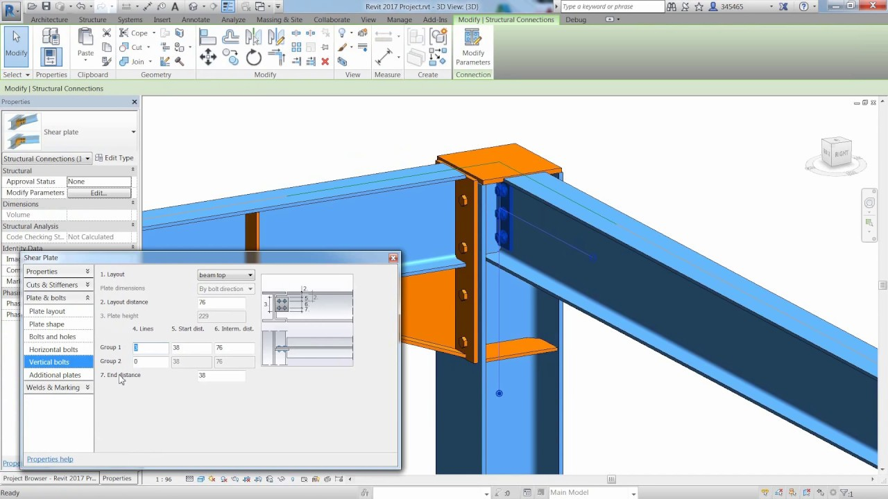 Structural Steel Connections In Revit 2017 And Advance