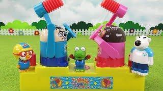 상대편의 머리를 날려버려라! 뿅망치치기 추억의 게임 ❤ 뽀로로 장난감 애니 ❤ Pororo Toy Video | 토이컴 Toycom