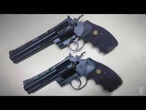 *Airsoft Review* KWC Colt Python 4 Inch & 6 Inch Black - Gas Version | Deutsch German |