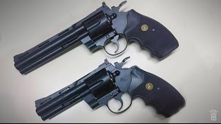 *Airsoft Review* KWC Colt Python 4 Inch & 6 Inch Black - Gas Version   Deutsch German  