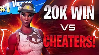 20 Kill WIN VS Cheaters! - Fortnite Battle Royale