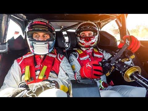 JP & Fabian Hambüchen im Audi DTM Renntaxi!   Daniel Abt