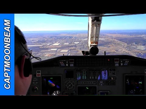 Landing at DFW Airport, Lots of ATC Radio Traffic: Cessna Ci