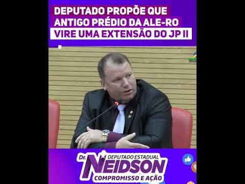 Vídeo: Dr. Neidson propõe que antigo prédio da Ale-RO vire extensão do JP II