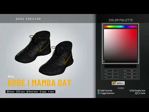 "nba-2k20-shoe-creator---nike-kobe-1-""mamba-day"""