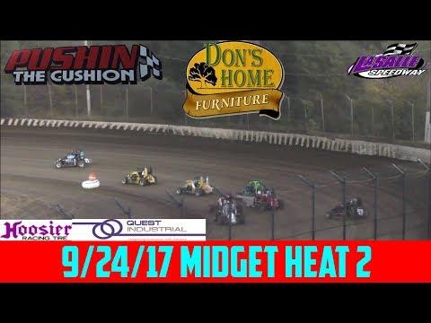LaSalle Speedway - 9/24/17 - Midgets - Heat 2