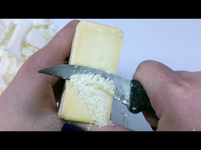ASMR Soap Cutting -- IVORY vs. IVORY - Vintage and Current Ivory Soap Bars
