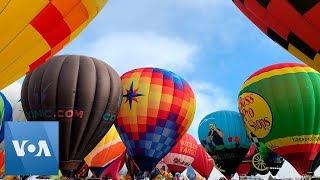 Balloons Float Over New Mexico at 2019 Albuquerque Balloon Fiesta