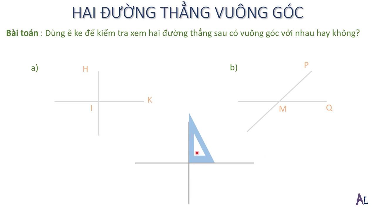 Bài 1   Hai đường thẳng vuông góc   Hình học   Lớp 4