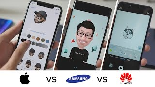 Animojis vs AR Emojis vs 3D Qmoji | Apple vs Samsung vs Huawei