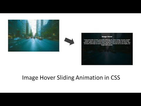 Create Image Sliding Hover Animation In CSS
