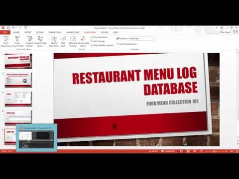 How to Create Resturant Menu Log Database Systems Using Ms Access