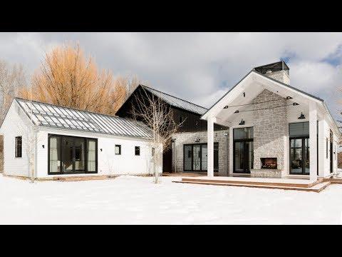 The Sims 4    Modern Farmhouse Style House   House Build (Speed Build)