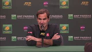 Roger Federer Post-Quarterfinal Match Press Conference at the BNP Paribas Open