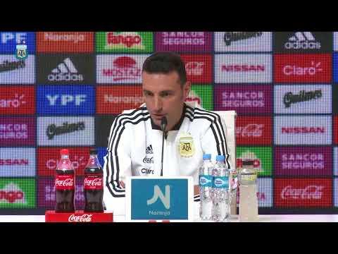Conferencia de Prensa de Lionel Scaloni - DT Selección Argentina