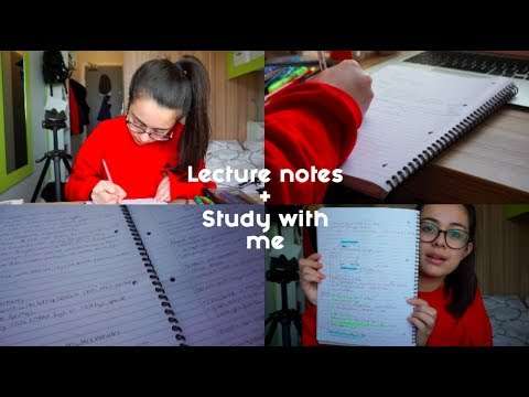How I write my lecture notes (Biochemistry)+ Study With Me