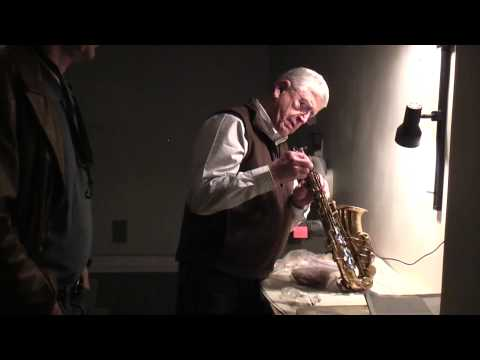 Saxophone Repair by Rex Olsen after Mark Lewis's Selmer Mark VI Fell from the Sax Stand