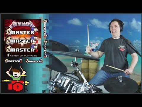 """""""Master Of Puppets"""" But Every Time He Says """"Master"""" It Gets Faster On Drums!"""