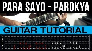 Para Sayo - Parokya Ni Edgar INTRO + SOLO Guitar Tutorial (WITH TAB)