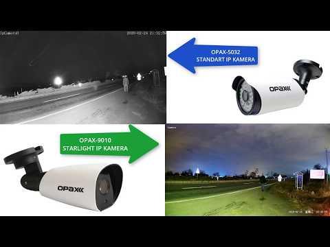 Sıfır Işık'ta OPAX-9010 2MP IP Starlight Kamera ile OPAX-5032 2MP Standart Gece Görüşlü IP Kamera Karşılaştırması