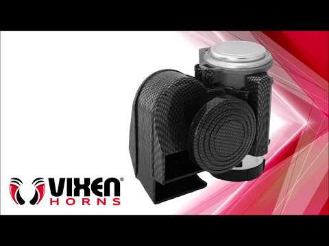 Vixen Horns VXH1608CB Electric Horn Carbon Black