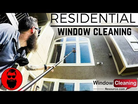 Residential Window Cleaning Water Fed - Traditional