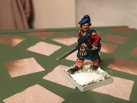 Painting an AWI Highlander Officer with a Kilt (Perry Miniatures)