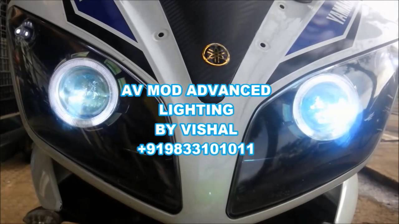 R15 V2 Modified With Projector Lights R15 Modified Headlight