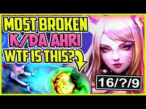MOST BROKEN K/DA AHRI BUILD | WTF IS THIS? BEST SKIN EVER | Ahri Mid Gameplay S8 League of Legends