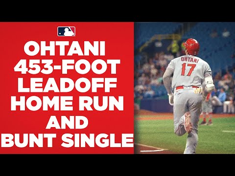 UNSTOPPABLE! Shohei Ohtani BLASTS a 453-foot leadoff home run, then LEGS OUT a bunt single!