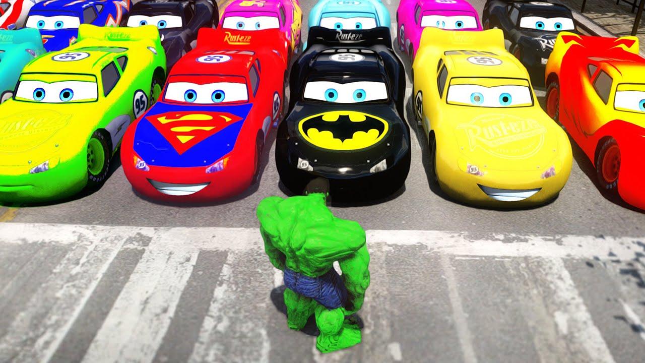 2a41335211 Hulk Esmaga Carros em Português! O Incrível Hulk com Carros Disney Pixar  Relâmpago McQueen!