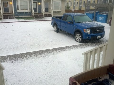 July 6, 2013 Freak Hail Storm Rips Through Airdrie, Alberta