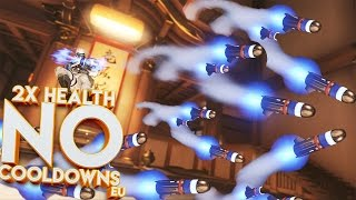 OVERWATCH 2X HEALTH NO COOLDOWNS CUSTOM GAME!! (EU EDITION)
