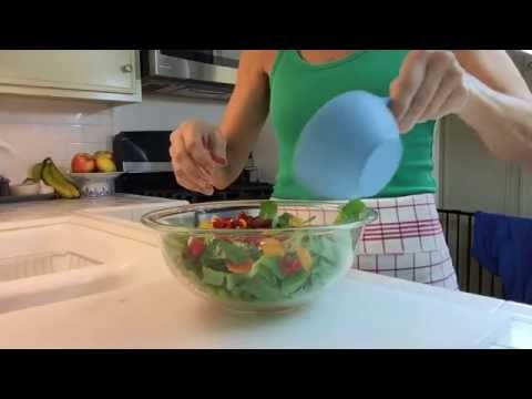 Romaine Salad with Seven Tasty & Colorful Ingredients - December Salads # 2
