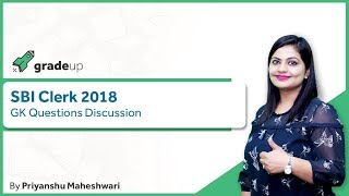 SBI CLERK 2018 GK Questions Discussion by Priyanshu Ma'am @ 3:30 PM