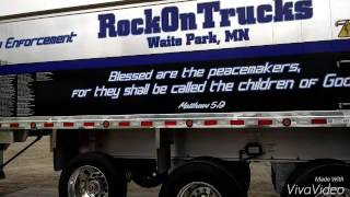Rock On Trucks Police Tribute : The Thin Blue Line