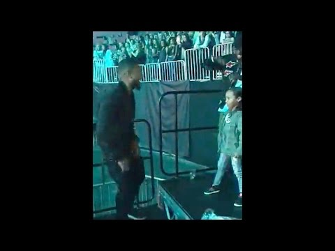 Usher Dances with Daughter at Justin Bieber's Purpose Tour where Ludacris Crashes and Sings