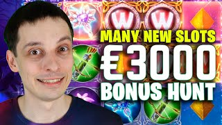 постер к видео BONUS HUNT RESULTS €3000, MANY NEW AND RARE SLOTS