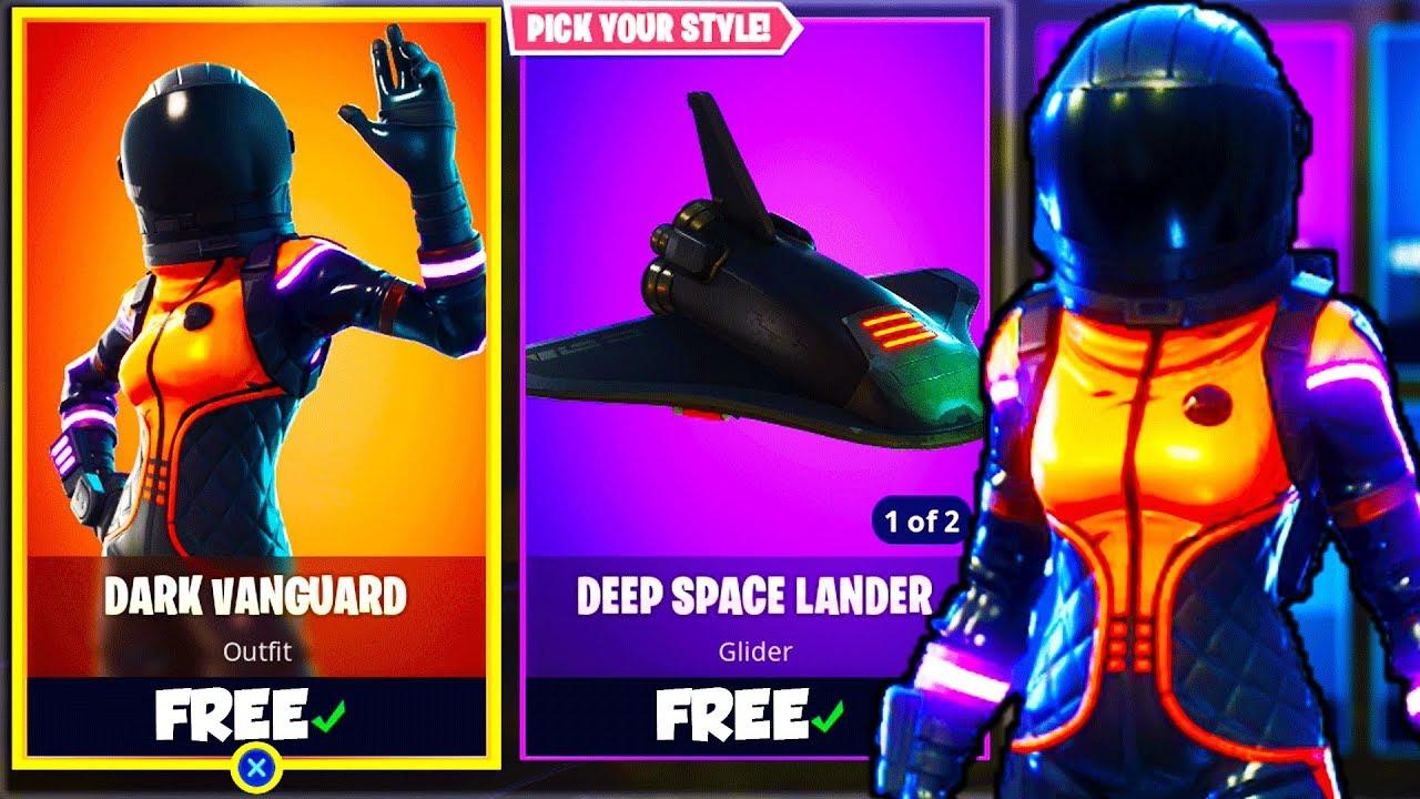 New Dark Vanguard Skin Dark Vanguard Skin Gameplay In Fortnite