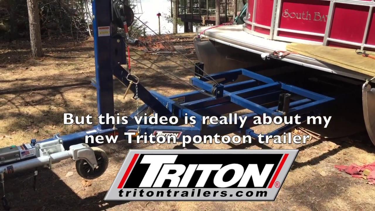 New Triton Scissors-lift Pontoon Trailer