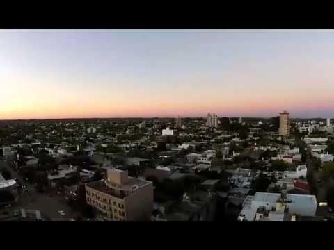 Dron Filmando La Ciudad De Venado Tuerto Desde Arriba.