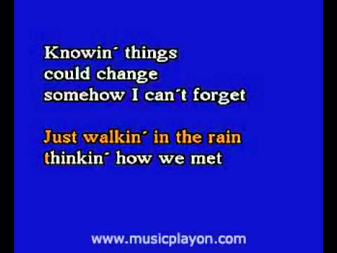 karaoke - Johnnie Ray   Just Walkin' In The Rain