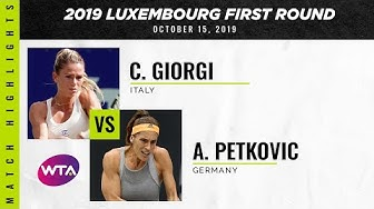 Andrea Petkovic vs. Camila Giorgi | 2019 Luxembourg Open First Round | WTA Highlights