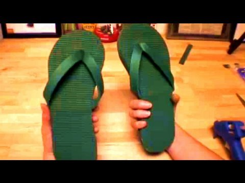 How to make Flip Flops from a Yoga Mat, Threadbanger