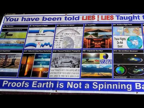 Flat Earth activism Las Vegas Strip (free Red pills)