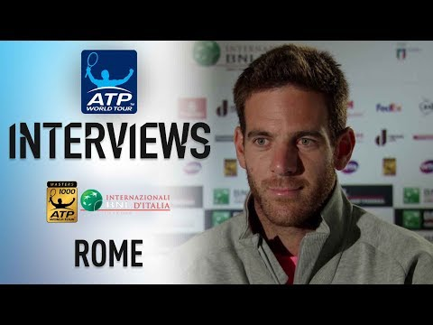 Del Potro Looking Forward To Goffin Matchup Rome 2018